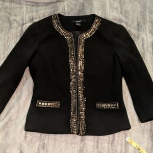 Blazer jacket with stunning beadwork